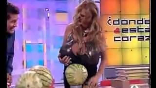 big boobs destroy Watermelon