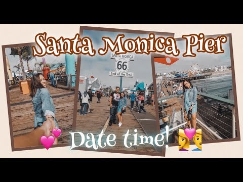 IT'S DATE TIME AT SANTA MONICA PIER + THINGS TO DO HERE!!! ( LyndzyVLOGS)