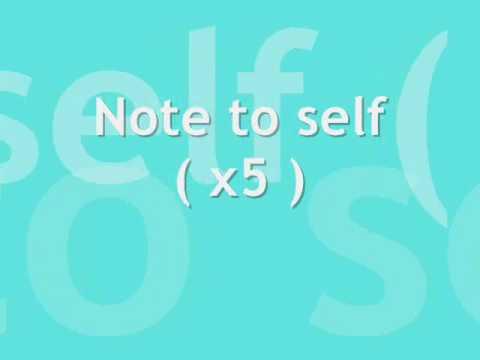 Skye Sweetnam - Note To Self Lyrics