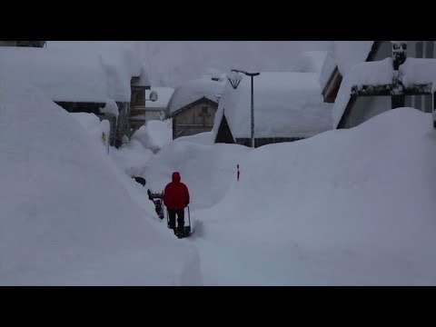 French village isolated as snow pounds region