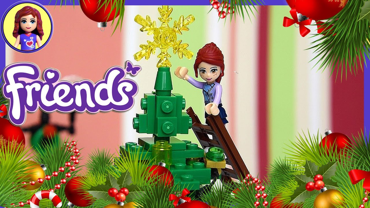 Lego Friends Build Big Christmas Tree Play  Kids Toys  YouTube