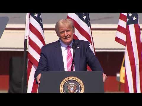 President Trump campaigns in Lumberton, North Carolina