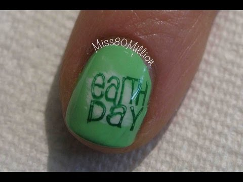 Earth Day 2013 - Stamping Nail Art Tutorial [W104]