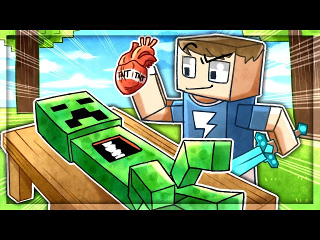 Stealing CREEPER ORGANS To UPGRADE in Minecraft