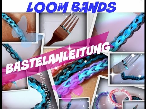 loom bands armband ohne rainbow loom loom armband machen mit einer gabel kinderkanal youtube. Black Bedroom Furniture Sets. Home Design Ideas