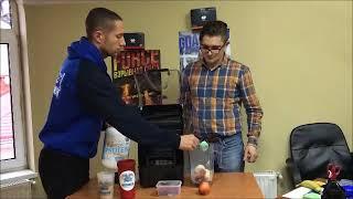 Денис Минин и Street Workout Pro готовят протеиновый коктейль