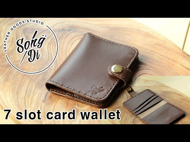 Making a Leather wallet  - Song.Di (7 slot card wallet)