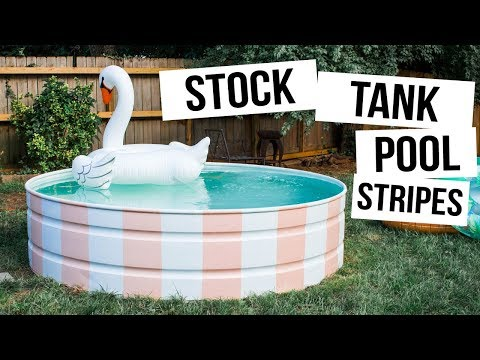 Setting Up The Cutest Stock Tank Pool!