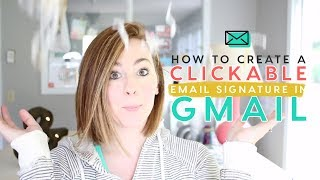 Create a PRETTY Gmail Signature