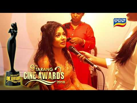 Back Stage with Archita Sahu getting ready for her Princess Look    9th Tarang Cine Awards 2018