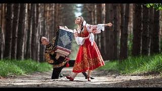 Русские частушки под гармонь Народный юмор танец хоровод