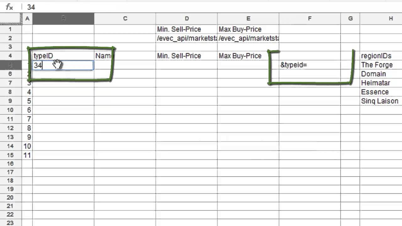 hight resolution of eve online tutorial google spreadsheet part 2