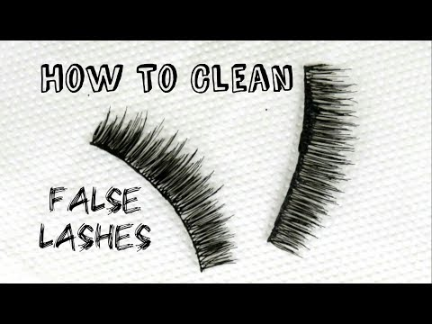 How To: Clean False Eyelashes To Re-Use | omnistyles