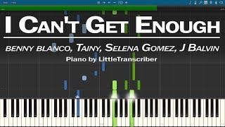 Baixar benny blanco, Tainy, Selena Gomez, J Balvin - I Can't Get Enough (Piano Cover) by LittleTranscriber