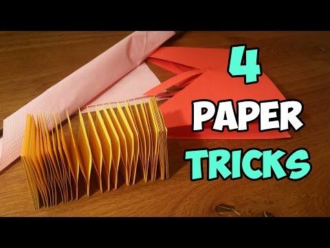 TOP 04 AMAZING PAPER TRICKS YOU'VE NEVER SEEN BEFORE | PAPER HACKS