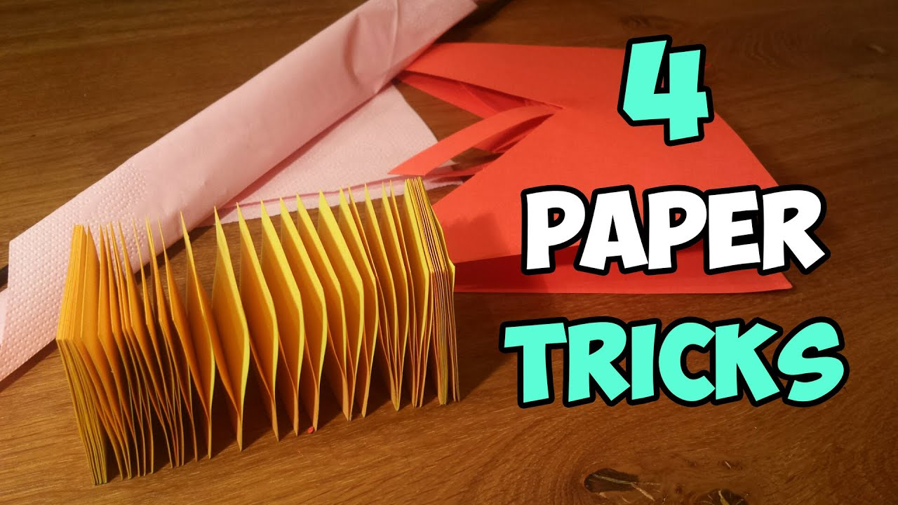 TOP 04 AMAZING PAPER TRICKS YOU'VE NEVER SEEN BEFORE ... - photo#16