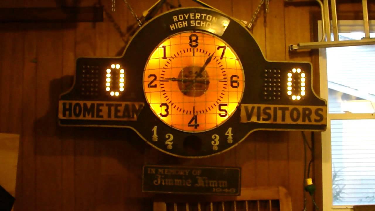 1946 Royerton Indiana High School Medart Basketball Scoreboard