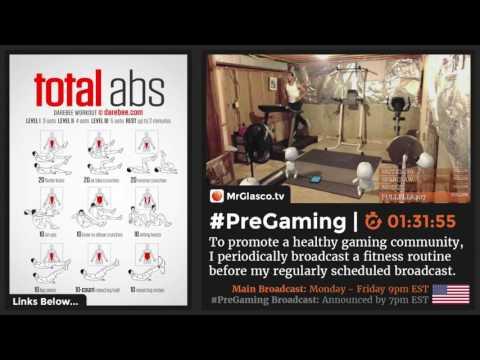 #PreGaming: @DAREBEES #TotalAbs Workout (Kerbal Space Program @ 9pm US-EST) 💪