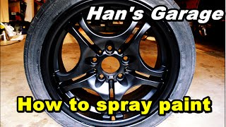 How to paint your wheels with 5 dollar spray paint