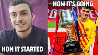 PEDRI's first words EVER with Barça (2020)