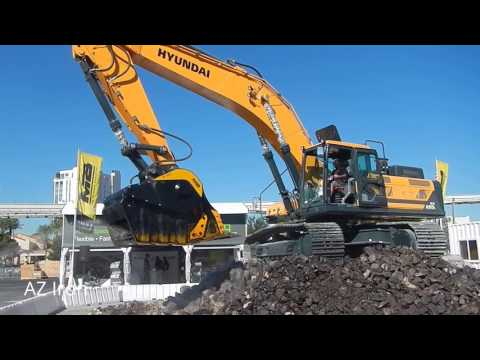 MB Crusher Bucket on Hyundai HX480L