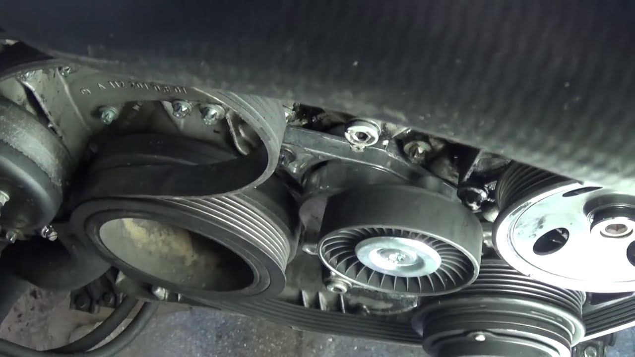 small resolution of  serpentine belt replacement install and belt diagram mercedes w163 ml320 ml430 ml500 ml350