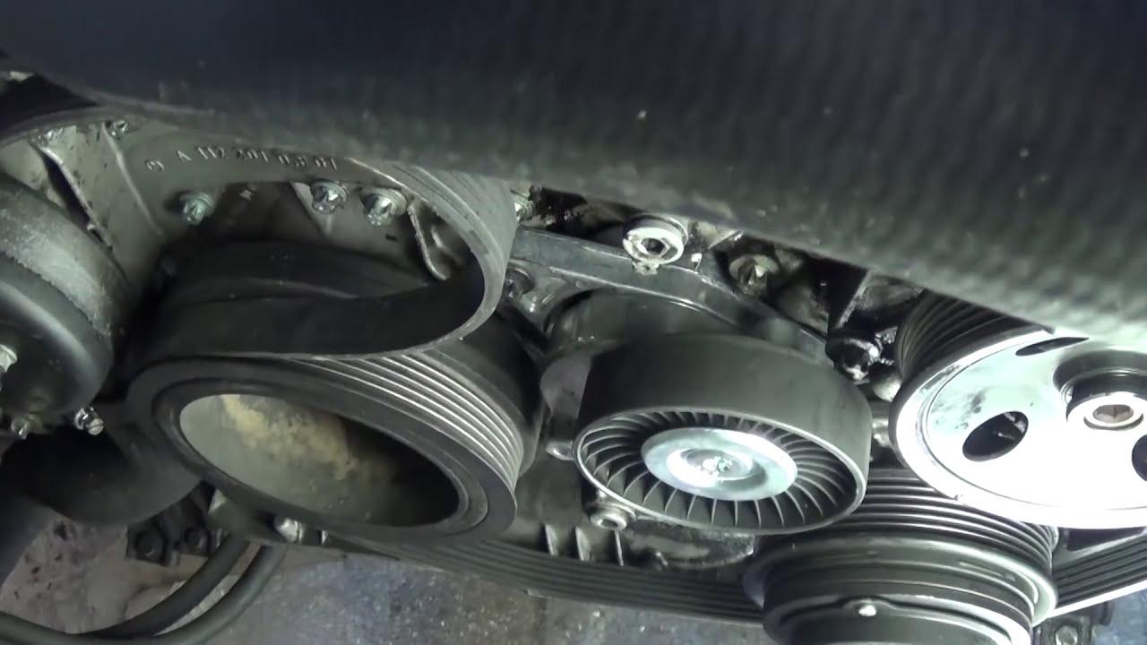 serpentine belt replacement install and belt diagram mercedes w163 ml320 ml430 ml500 ml350 [ 1280 x 720 Pixel ]