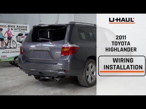 2011 Toyota Highlander Trailer Wiring Harness Installation - YouTubeYouTube