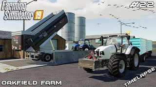 Mowing grass, seeding & selling grain | Animals on Oakfield Farm | Farming Simulator 19 | Episode 22