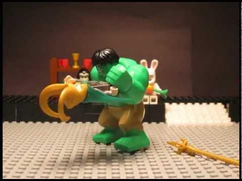 Lego Avengers - Hulk Smashes Loki - YouTube
