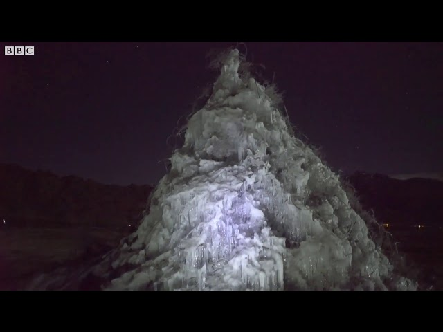 Can ice stupas solve the water crisis in the Himalayan Desert    BBC News