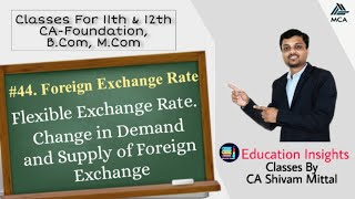 Module - 44 Flexible Foreign Exchange Rate, Demand and Supply of Foreign Currency