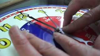 Tightening the hour hand on a quartz clock