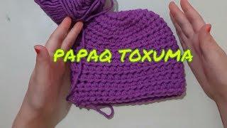 Papaq toxuma.Bere yapımı.kolay şapka örgüsü.