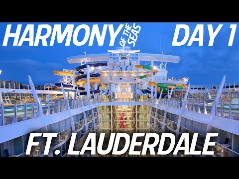 Harmony of the Seas (July 2017) Eastern Caribbean DAY 1: Ft. Lauderdale