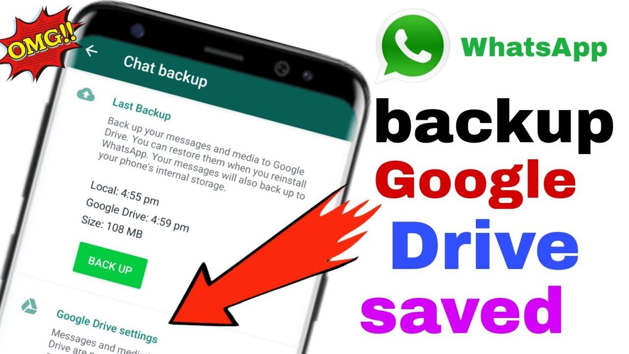 Whatsapp Google Drive Backup Gb Whatsapp Google Drive Backup Kaise Kare Youtube
