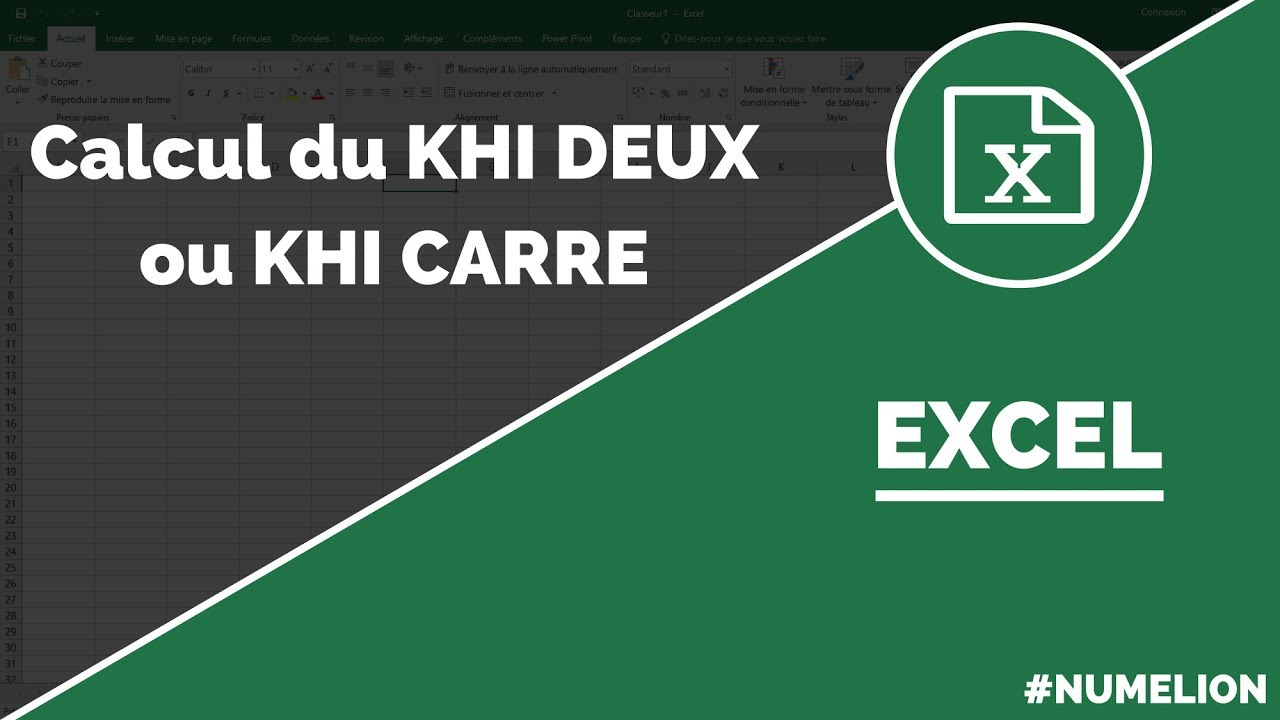 Khi deux ou khi carre calcul dans excel youtube for Table khi carre