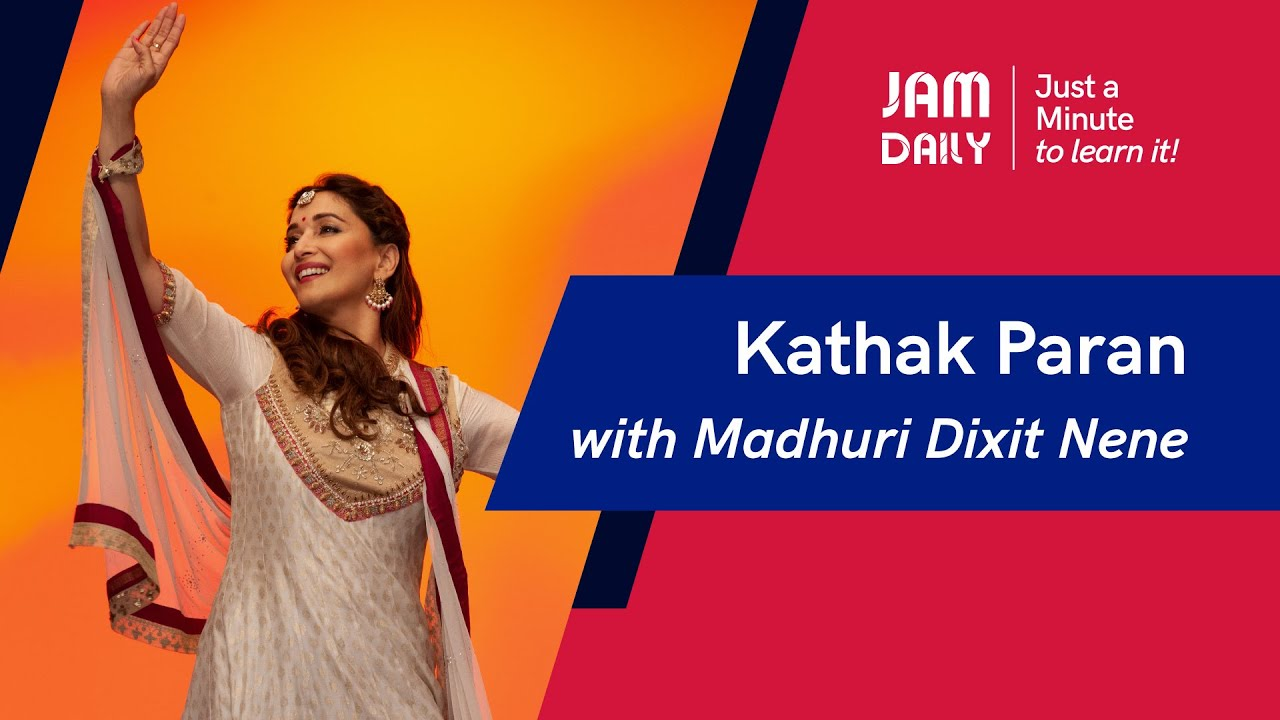 JAM Daily #103 | Just A Minute To Learn 'Kathak Paran - Jagaave' | Dance With Madhuri