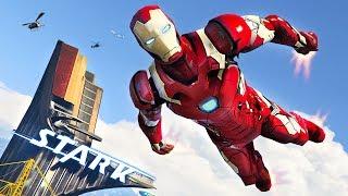 GTA 5 mods new Iron Man 2.0 mod! GTA 5 Iron Man mod with Stark Towe...
