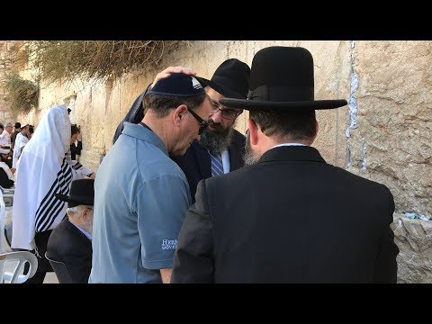 Utah Governor receives a blessing at the Western Wall in Jerusalem