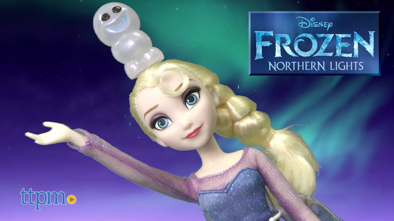 Disney Frozen Northern Lights Elsa Doll From Hasbro Youtube