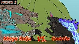 GODZILLA 3: Godzilla vs Mega Kaiju - Funny Cartoon Animation
