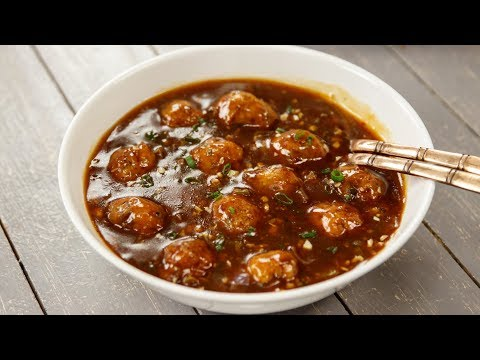 Veg Manchurian Gravy Restaurant Style Vegetable Wet Recipe - CookingShooking