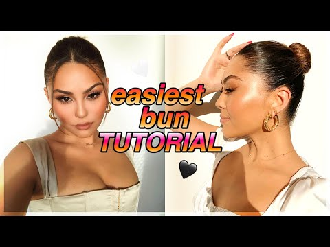 my fave bun tutorial!! *highly requested* | easy high bun middle part hair tutorial