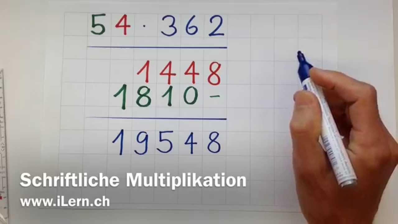 Schriftliche Multiplikation - YouTube