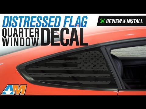 2015-2017 Mustang Distressed Flag Quarter Window Decal Review & Install