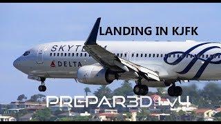 |Prepar3D V4.2| Landing In KJFK |Ultra Realsim| Snow Storm| AS16