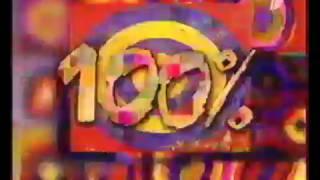"""Заставка программы """"100%"""" (ОРТ/Первый канал, 01.01.1999 - 11.09.2002)"""