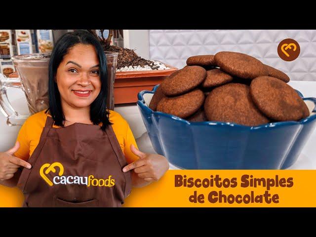 Biscoitos Simples de Chocolate   Cacau Foods