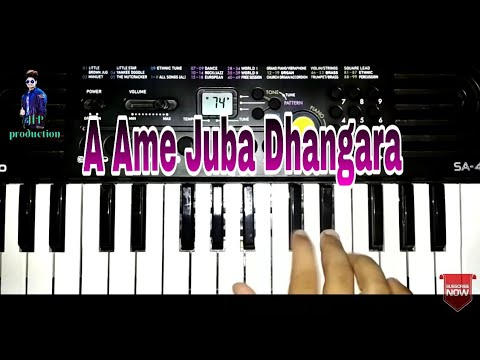 A Ame Juba Dhangara | Sambalpuri Old Song | On Keyboard